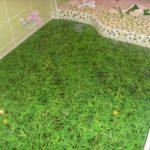 трава 3D полы