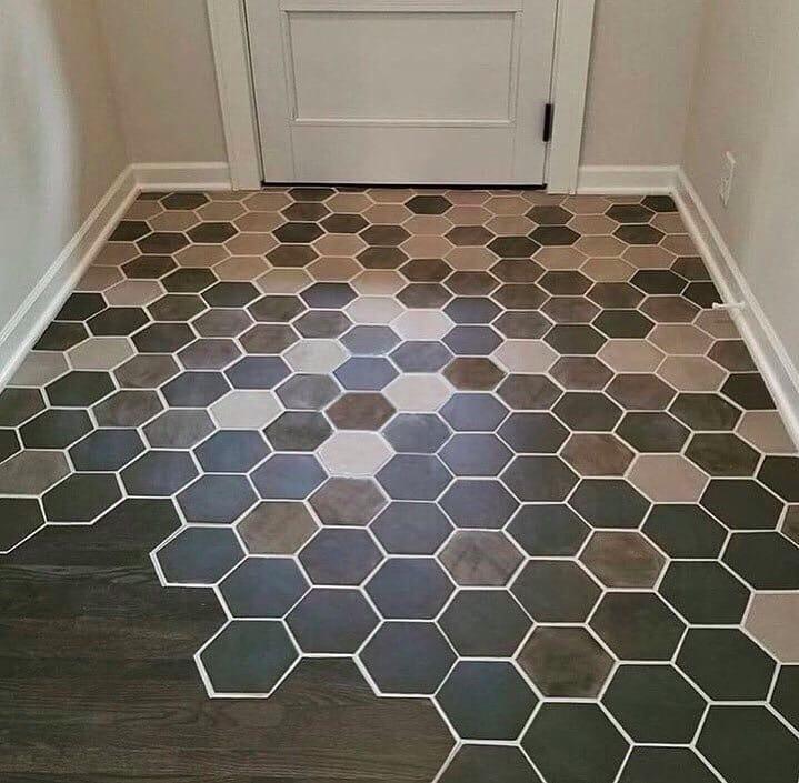 ламинатный пол с плиткой