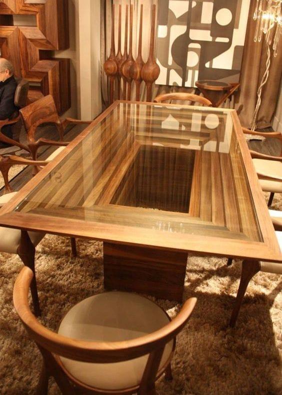 классный стол с прозрачной столешницей
