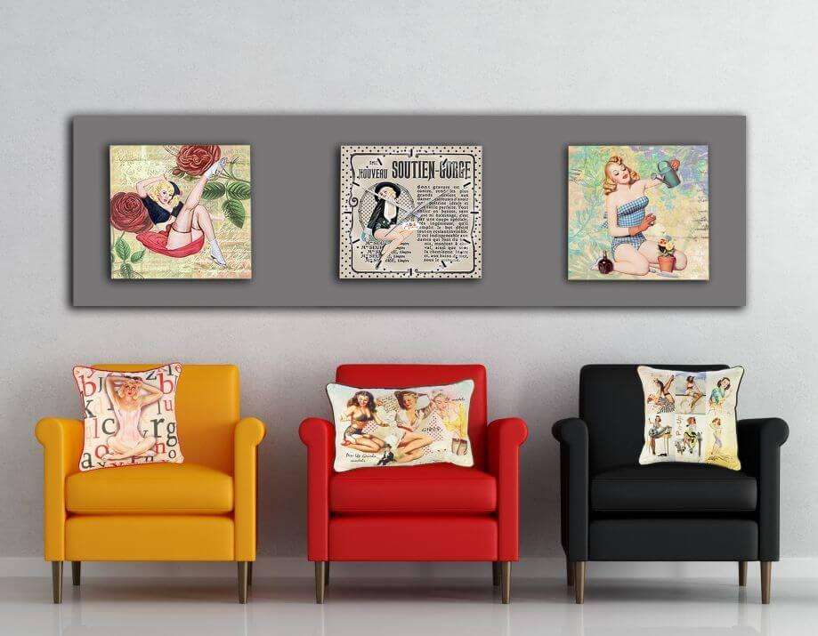 три разных кресла