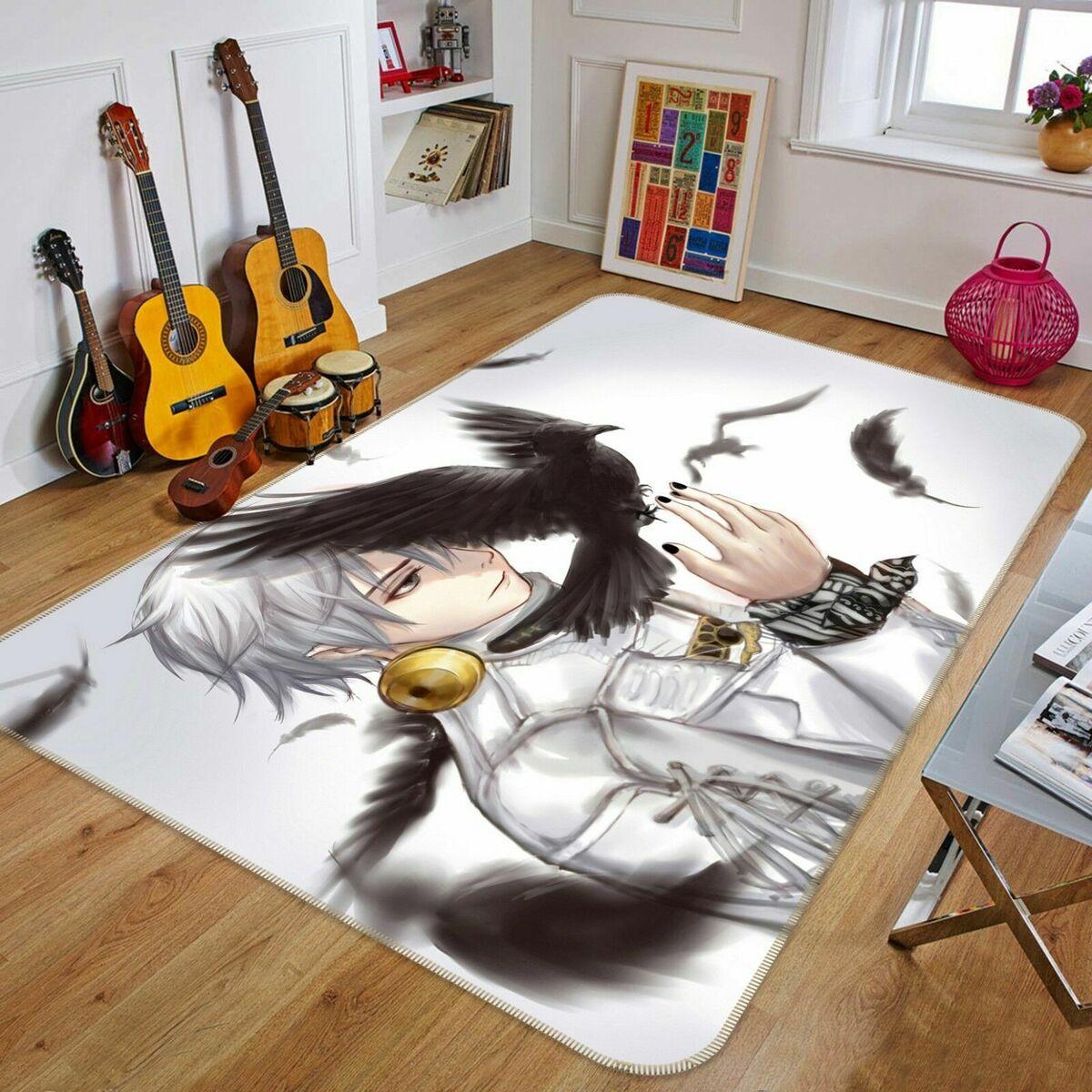 гитары и ковер с героем аниме