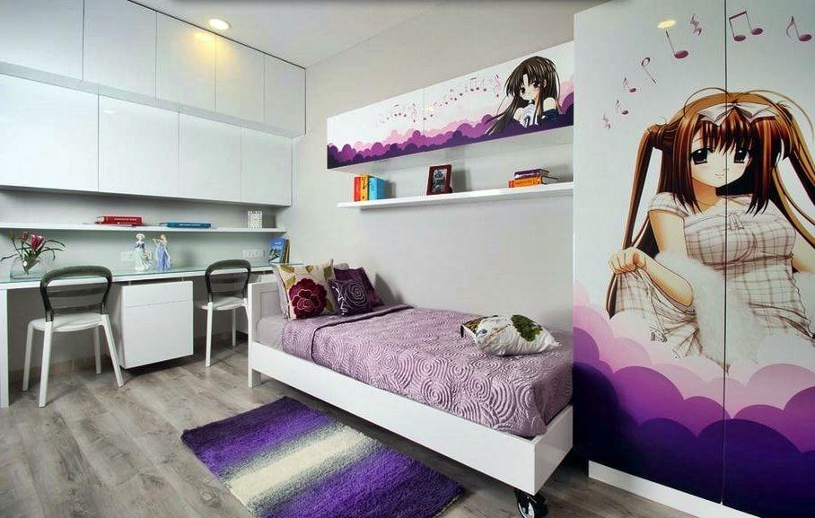 детская комната с аниме персонажем