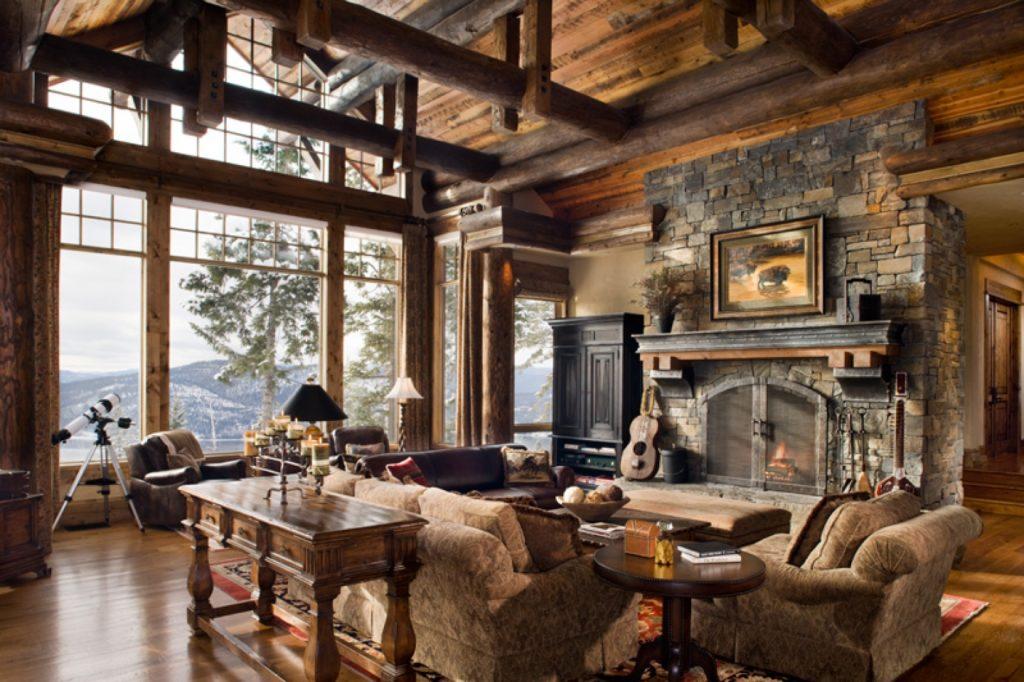 гостиная с панорамным окном