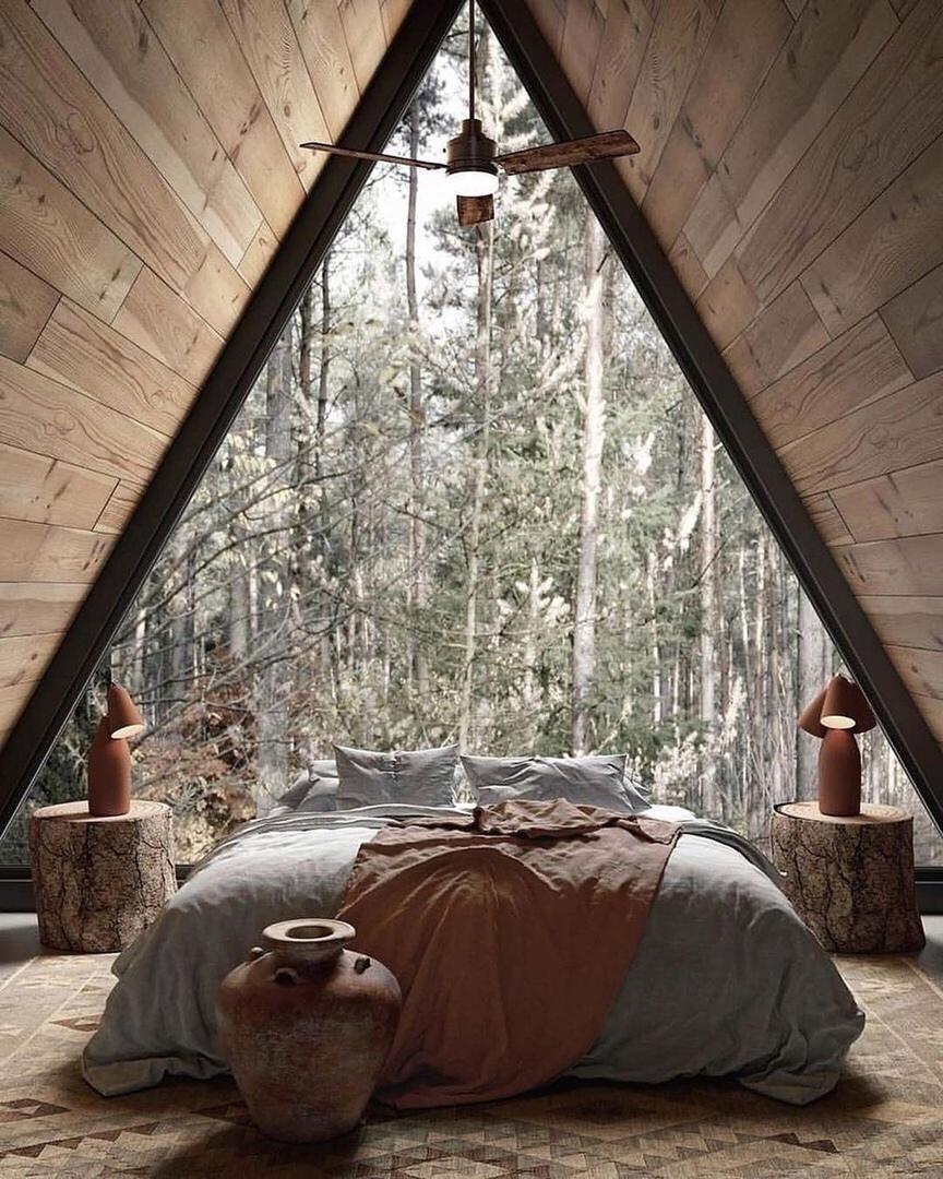 окно с видом в лес