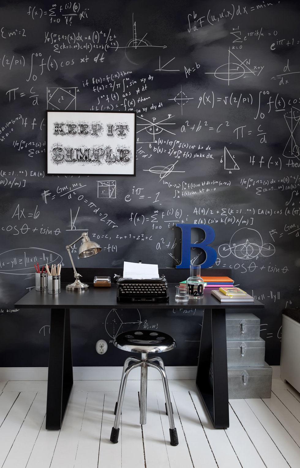 стена с формулами