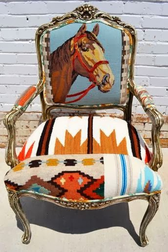 кресло с лошадью
