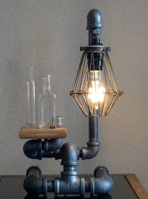 лампа с подносом