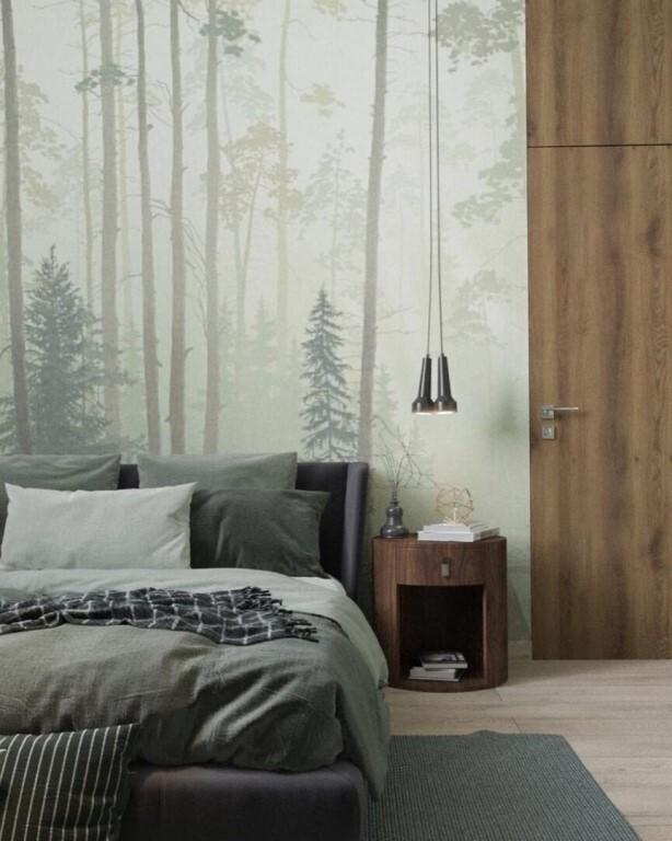 стена с елками