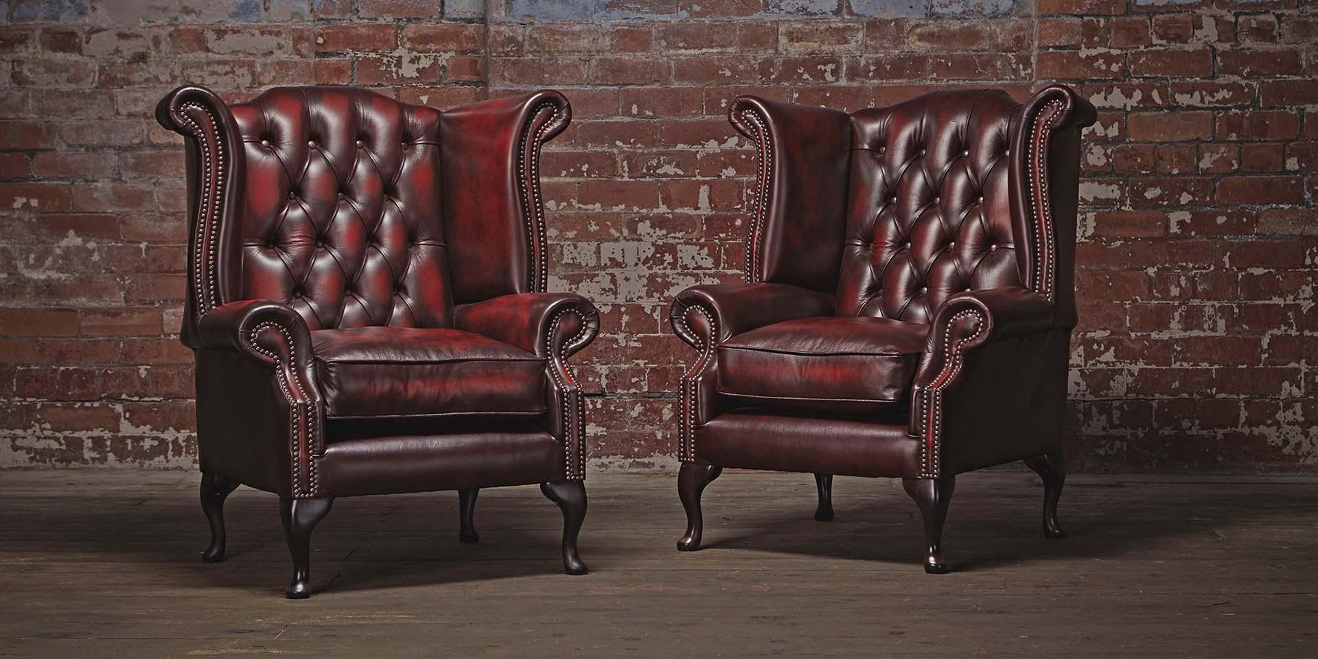 два кожанных кресла