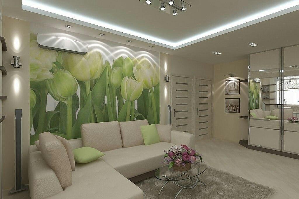 стена с тюльпанами