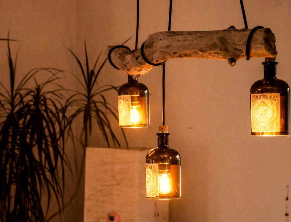 светильник в эко стиле