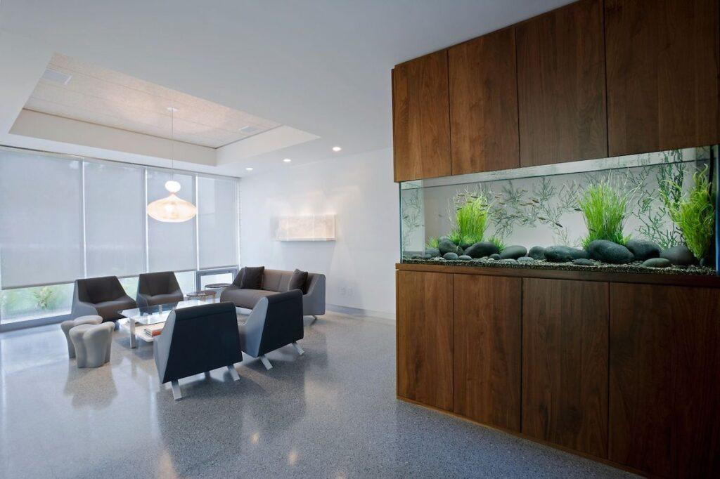 аквариум в офисе