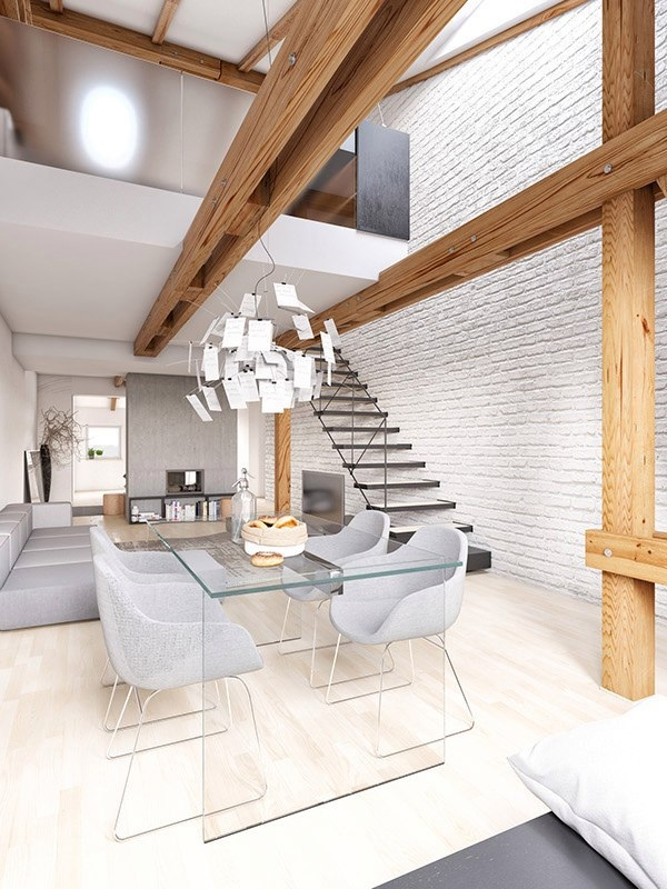 гостиная и лестница